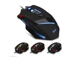 ZELOTES 7200DPI Professional Wired Optical 7 Buttons Self-defining Gaming Mouse