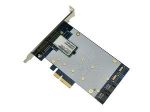 x4 PCIe to SATA 3.0 + B key NGFF(m.2) RAID Card HyperDuo SATA port multiplier