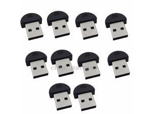 10PCS Mini USB Microphone for Computer Karaoke Online Chatting Sound Recording
