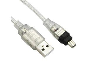 USB Male to Firewire IEEE 1394 4 Pin Male iLink Adapter Cord firewire 1394 Cable
