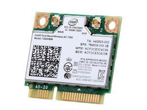 Intel 7260 802.11ac 7260HMW Wireless-AC 867M Wifi Bluetooth 4.0 Mini PCI-E Card