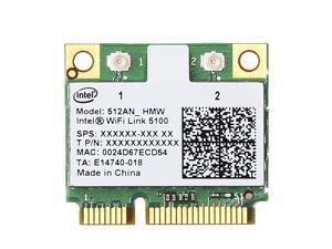 Intel Wifi 5100 512AN_HMW 802.11a/g/n Dual band 300M Half Size Mini PCI-e card