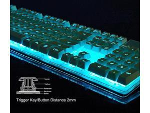 Ajazz Crystal Soldier AK6 Illuminated Usb Gaming Keyboard with 7 Color Backlight