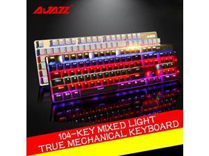 Ajazz Robocop Usb Gaming Mechanical Keyboard 104 Keys RGB LED Black Blue Switch
