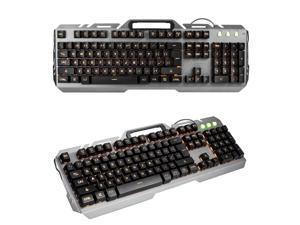 K36 Wired Orange LED Backlit Usb Ergonomic Gamer Gaming Keyboard Metal Computer