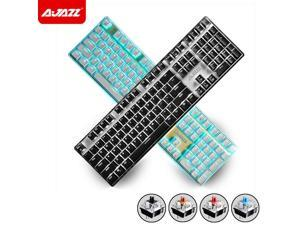 108 Keys Ajazz AK33i Wired LED Backlit Usb Ergonomic Mechanical Gaming Keyboard