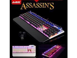 Ajazz Assassin's AK35 Black Blue Switch 107 Keys Mechanical Pro Gaming Keyboard
