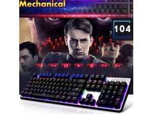 Mechanical Ergonomic Illuminated Usb Gaming Keyboard 87/104 Keys RGB LED Backlit