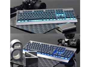 Ajazz Cyborg Soldier 2nd AK27 Ergonomic Usb Gaming Keyboard with 7 Color Backlit