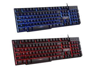 Mad Warrior GX50 3 Colors Ergonomic Multimedia Backlit Usb Gaming Gamer Keyboard