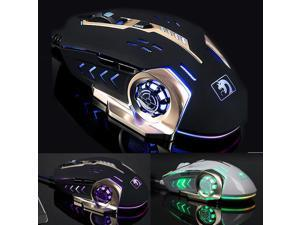 4000DPI Mamba 6 Buttons 7Color LED Wired Usb Ergonomic Professional Gaming Mouse
