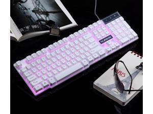 3 Colors Backlit Cyborg Soldier Multimedie Usb Gaming Keyboard Blue/Red/Purple