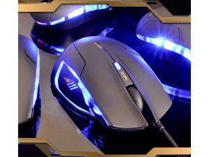 7D 1600DPI E-3LUE MAZER 1ST COBRA 6 Buttons Blue LED Optical Usb Gaming Mouse
