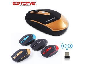 NEW WIRELESS MOUSE ESTONE E-2350 2.4G 1600DPI ERGONOMIC DESIGN OPTICAL U want