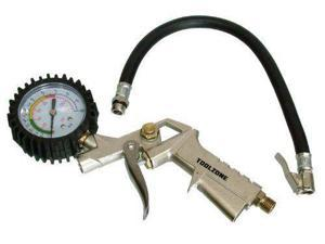 Car/Motorcycle Hand Pump Tyre Inflator With Dial Pressure Guage