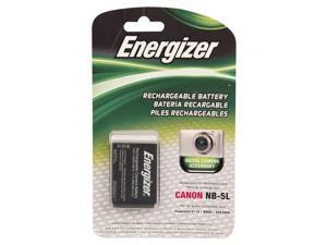 Energizer - Rechargeable Li-Ion Replacement Battery for Canon NB-5L - Black