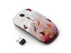 Unique Pattern Optical Mice Mobile Wireless Mouse 2.4G Portable for Notebook Computer Laptop Watercolor Butterfly Pattern PC
