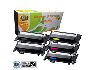 Green Toner Supply (TM) New Compatible [Samsung CLT-K406S,CLT-C406S,CLT-Y406S,CLT-M406S] 5 Color LaserJet Toner Cartridges for Samsung CLP-365, CLP-365W, CLX-3305FN, CLX-3305FW, CLX-3305W