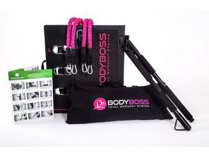 BodyBoss Home Gym 2.0 - Full Portable Gym Home Workout Package - Pink
