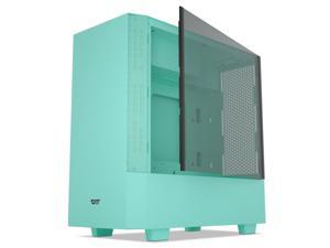 darkFlash V22 Mint Green Mid Tower Computer Case ATX Micro ATX Mini ITX M-ATX with Magnetic Design Wide Open Door Opening Swing Type Tempered Glass Side Panel w/Vertical Graphics Card Installation