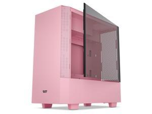 darkFlash V22 Pink Mid Tower Computer Case ATX Micro ATX Mini ITX M-ATX with Magnetic Design Wide Open Door Opening Swing Type Tempered Glass Side Panel w/Vertical Graphics Card Installation