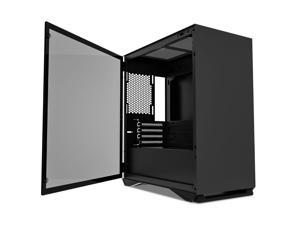 darkFlash DLM 22 Black Micro ATX Mini ITX Tower MicroATX Computer Case with Door Opening Tempered Glass Side Panel