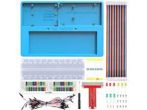 Kuman Raspberry Pi Holder Breadboard Kit, 7 in 1 RAB Holder kit for Arduino Uno R3, Mega 2560 & Raspberry Pi 3 Model B, 2 Model B,1 Model B+ RPI Zero and Zero W