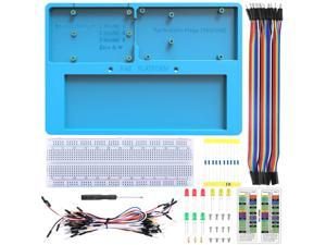 UNIROI Breadboard Kit with Arduino Raspberry Pi Breadboard Holder, 14 in 1 RAB Holder Kit for Arduino UNO R3, Arduino Mega 2560 & Raspberry Pi 3 Model B, 2 Model B,1 Model B+ RPI Zero W and Zero, and