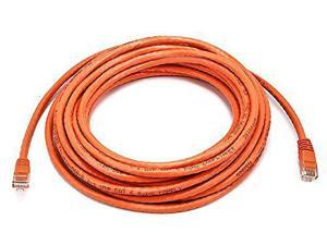 Monoprice 25FT 24AWG Cat6 500MHz Crossover Ethernet Bare Copper Network Cable - Orange