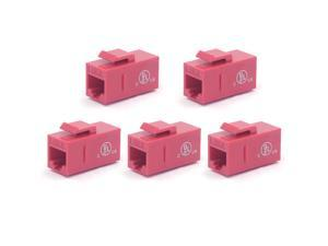 VCE 5-Pack RJ45 Cat6 Shielded Metal Keystone Jacks