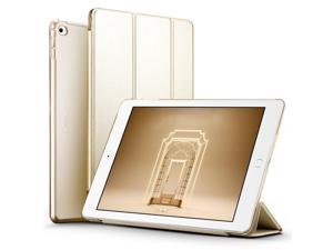 ESR iPad Air 2 Case, Smart Case Cover [Synthetic Leather] Translucent Frosted Back Magnetic Cover with Auto Sleep/Wake Function [Light Weight] (Champagne Gold)