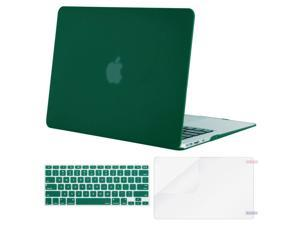 MOSISO Plastic Hard Case Shell with Keyboard Cover with Screen Protector Compatible MacBook Air 13 Inch (Models: A1369 and A1466), Peacock Green