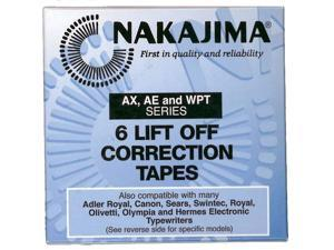 Lift off Correction tape. White. For Nakajima and other typewriter brands.