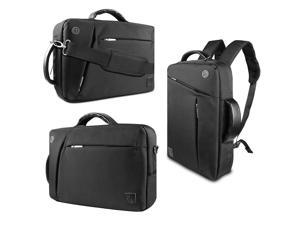 VanGoddy 3 in 1 Shoulder Bag Backpack and Messenger Bag for iRulu X/eXpro Walknbook/Kocaso W Series/Le Pan TC Series 10.1-inch Tablet(Black)
