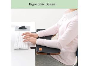 FUZADEL Ergonomics Desk Extender Under Desk Keyboard Tray Clamp On & Mouse Pad, Adjustable Height & Angle Ergonomic Standing Computer Keyboard Stand