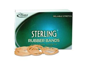 """Alliance Rubber 24305 Sterling Rubber Bands Size #30, 1 lb Box Contains Approx. 1500 Bands (2"""" x 1/8"""", Natural Crepe)"""