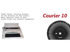 Nakajima Courier 10 Print Wheel for use in Nakajima WPT-150/160 Series Portable Electronic Typewriter.