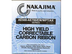 Hi Yield Correctable black film Typewriter Ribbon Cartridge. For Nakajima and other typewriter brands.