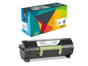 Black,1 Pack SuppliesOutlet Compatible Toner Cartridge Replacement for Lexmark 501X 50F1X00