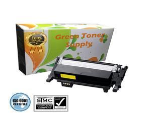 Green Toner Supply (TM) New Compatible [Samsung CLT-Y406S] Yellow LaserJet Toner Cartridges for Samsung CLP-365, CLP-365W, CLX-3305FN, CLX-3305FW, CLX-3305W