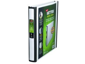 """1"""" Staples Better View Binder with D-Rings, White"""