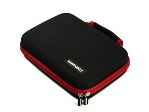 Black with Red Vangoddy Hard Case Suitable for Western Digital External Hard Drive WD Elements 2 TB Model WDBAAU0020HBK-NESN