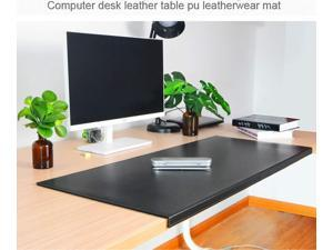 """Multifunctional Office Desk Pad with Full Fixation Lip,Table Pad Blotter Protector 35.5""""x 15.8"""" BUBM Smooth Waterproof PU Leather Mouse Pad Edge-Locked"""
