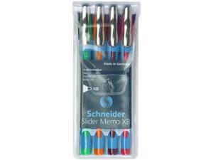 Schneider Slider Memo XB Ballpoint Pen, Assorted Colors