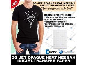 "INKJET TRANSFER PAPER FOR DARK FABRIC: NEENAH ""3G JET OPAQUE"" (8.5""X11"") 50Pk :)"