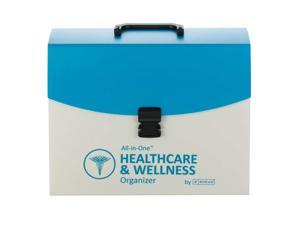 Smead All-in-One Healthcare & Wellness Organizer, 13 Pockets, Letter Size, Latch Closure, Poly White/Teal (92012)