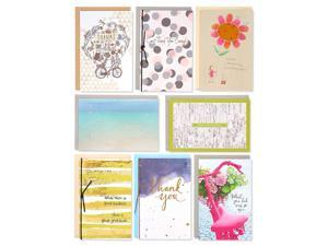 American Greetings Premium Thank You Greeting Card Collection, 8-Count