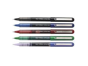 Pilot V-Ball Liquid Ink Roller Pen, Extra Fine, Blue Barrel/Ink (Pack of 12)
