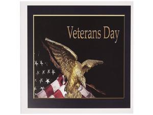 3dRose Greeting Cards, Veterans Day, Soaring Eagle with American Flag, Set of 6 (gc_12181_1)