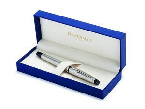 Waterman Expert Stainless Steel, Rollerball Pen with Fine Black refill (S0952080)
